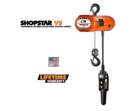 CM SHOPSTAR VS VARIABLE SPEED ELCTRIC CHAIN HOIST